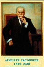 Portret van Auguste Escoffier, de Franse meesterkok.
