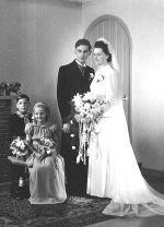Trouwfoto van Marie en Peet 15 juni 1948