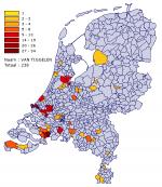 Verspreiding van 'Van Tiggelen' in Nederland